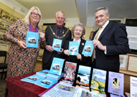 With Deputy Mayor of Hastings, the Mayor and Keith Ridley, Editor in Chief of the Hastings Observer
